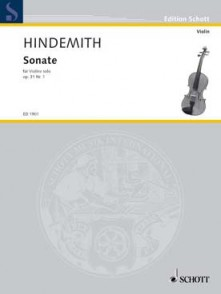 HINDEMITH P. SONATE OP 31 N°1 VIOLON SOLO