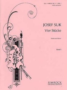 SUK J. 4 STUCKE OP 17 VOL 1 VIOLON