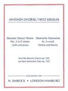 DVORAK A. SLAVONIC DANCE op 72/2 THEME VIOLON
