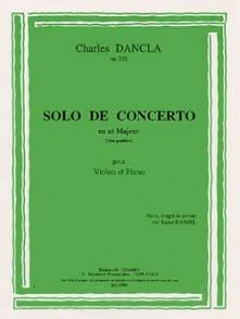 DANCLA C. SOLO DE CONCERTO DO MAJEUR OP 210 VIOLON