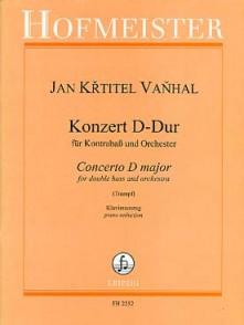 VANHAL J.B. CONCERTO RE MAJEUR CONTREBASSE