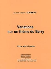 JOUBERT C.H. VARIATIONS SUR UN THEME DU BERRY ALTO