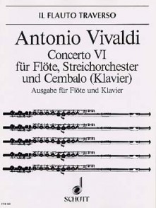 VIVALDI A. CONCERTO OP 10/6 FLUTE