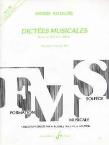 JOLLET J.C. DICTEES MUSICALES VOL 1 ELEVE