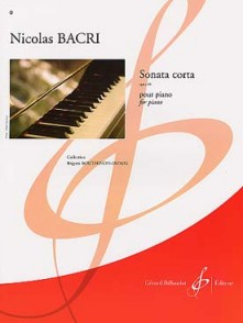 BACRI N. SONATA CORTA OP 68 PIANO