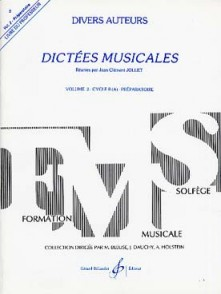 JOLLET J.C. DICTEES MUSICALES VOL 2 PROF
