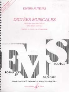 JOLLET J.C. DICTEES MUSICALES VOL 3 ELEVE