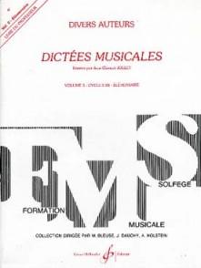 JOLLET J.C. DICTEES MUSICALES VOL 3 PROF