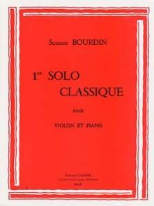 BOURDIN S. SOLO CLASSIQUE N°1 VIOLON