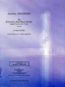 ANDERSEN J. 24 ETUDES INSTRUCTIVES OP 30 FLUTE