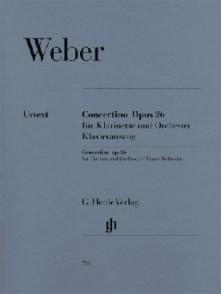 WEBER C.M. CONCERTINO OP 26 CLARINETTE