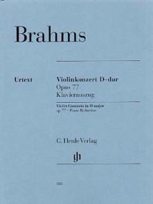 BRAHMS J. CONCERTO RE MAJEUR VIOLON