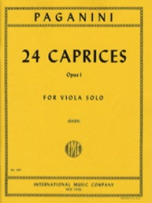PAGANINI N. 24 CAPRICES OP 1 ALTO