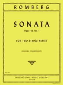 ROMBERG B. SONATE OP 43 N°1 CONTREBASSES