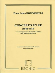 HOFFMEISTER F.A. CONCERTO RE MAJEUR ALTO