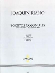 RIANO J. BOCETOS COLONIALES GUITARES