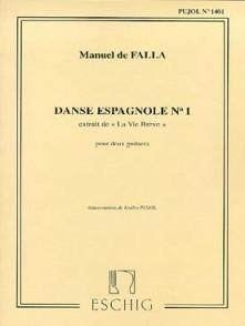 DE FALLA M. DANSE ESPAGNOLE N°1 2 GUITARES