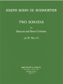 BODIN DE BOISMORTIER TWO SONATAS OP 50 N°1/2 BASSON
