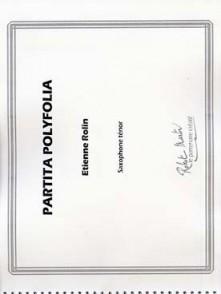 ROLIN E. PARTITA POLYFOLIA SAXO TENOR SOLO
