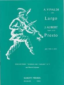 AUBERT J. PRESTO - VIVALDI A. LARGO VIOLON