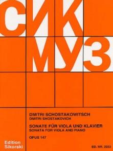 CHOSTAKOVITCH D. SONATE OP 147 ALTO