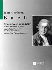BACH J.C. CONCERTO EN UT MINEUR ALTO