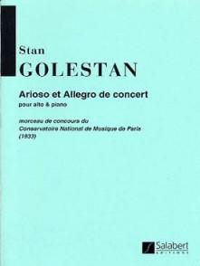 GOLESTAN S. ARIOSO ALLEGRO DE CONCERT ALTO