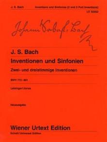 BACH J.S. INVENTIONS 2 ET 3 VOIX PIANO