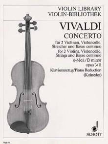 VIVALDI A. CONCERTO OP 3 L'ESTRO ARMONICO N°11 2 VIOLONS