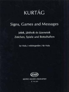 KURTAG G. SIGNS GAMES AND MESSAGES ALTO SOLO