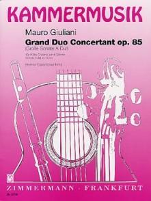 GIULIANI M. GRAND DUO CONCERTANT OP 85 FLUTE GUITARE