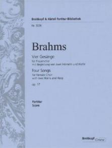 BRAHMS J. FOUR SONGS OP 17 FOR FEMALE