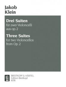 KLEIN J. SUITES OP 2 VIOLONCELLES