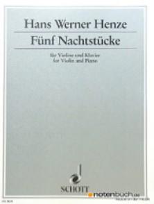 HENZE H.W. 5 NACHTSTUCKE VIOLON