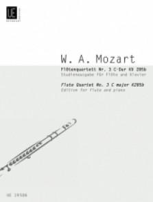 MOZART W.A. FLUTE QUARTET N°3 KV 285B FLUTE