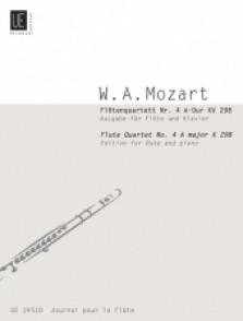 MOZART W.A. FLUTE QUARTET N°4 KV 298 FLUTE