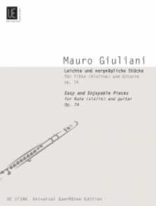 GIULIANI M.  EASY AND ENJOYABLE PIECES FLUTE GUITARE