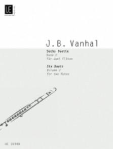 VANHAL J.B. 6 DUETS VOL 2 FLUTES