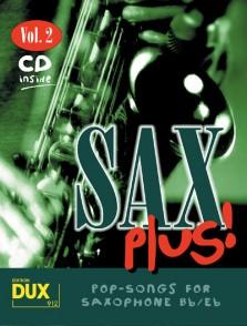 SAX PLUS VOL 2 POP SONGS SAXO ALTO OU TENOR