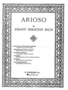 BACH J.S. ARIOSO VIOLON OU VIOLONCELLE