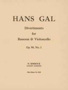 GAL H. DIVERTIMENTO OP 90/1 BASSON VIOLONCELLE