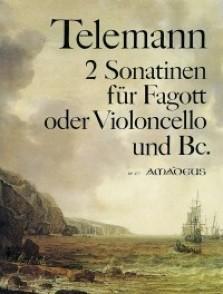 TELEMANN G.P. 2 SONATINES BASSON OU VIOLONCELLE