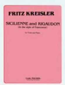 KREISLER F. SICILIENNE ET RIGAUDON VIOLON