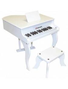 PIANO A QUEUE ENFANT BLANC