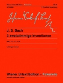 BACH J.S. 3 INVENTIONS A 2 VOIX PIANO