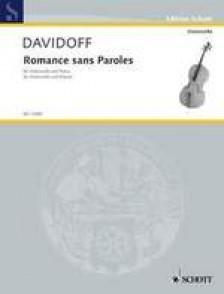 DAVIDOFF K. ROMANCE SANS PAROLES FOR CELLO