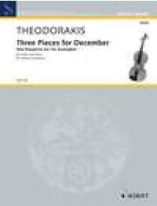 THEODORAKIS M. THREE PIECES FOR DECEMBER VIOLON