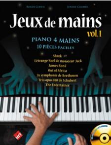 COHEN/CAMBIER JEUX DE MAINS VOL 1 PIANO 4 MAINS