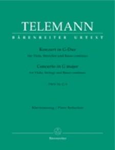 TELEMANN G.P. CONCERTO SOL MAJEUR VIOLA