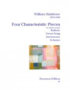 HURLSTONE W. 4 CHARACTERISTIC PIECES CLARINETTE